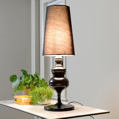 Tapered shade oversized table light black