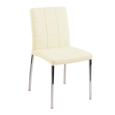 Jenkins Faux Leather Dining Chair Cream