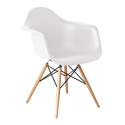 Exceptionnel Eiffel Armchair With Beech Legs White
