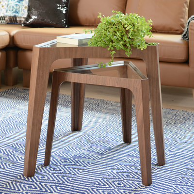 Trieste nesting tables walnut