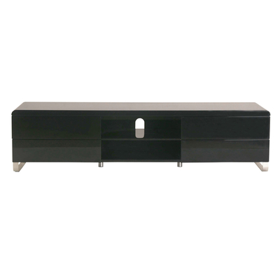 Load Tv Unit With Drawers Black Dwell