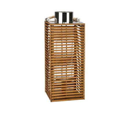 Decorative bamboo candle holder large