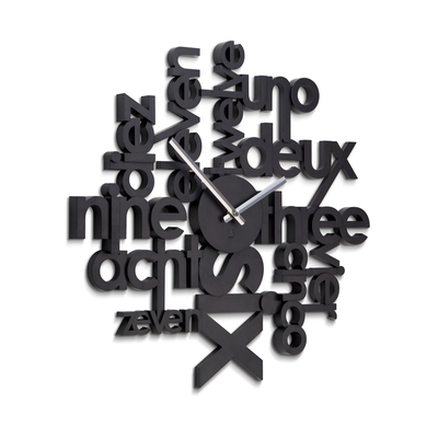 Alphabetic numbers wall clock large