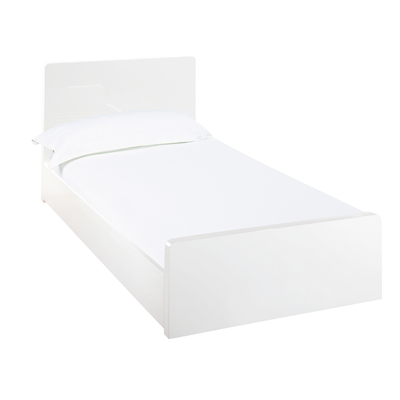 Notch bed single white