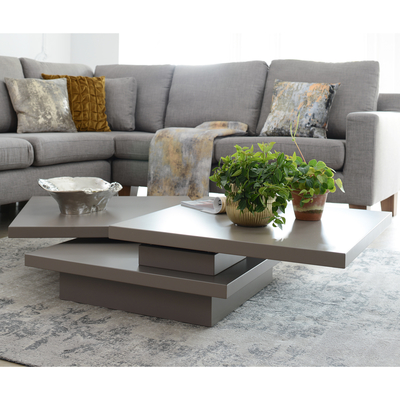 Exceptionnel Rotate Square Coffee Table Stone