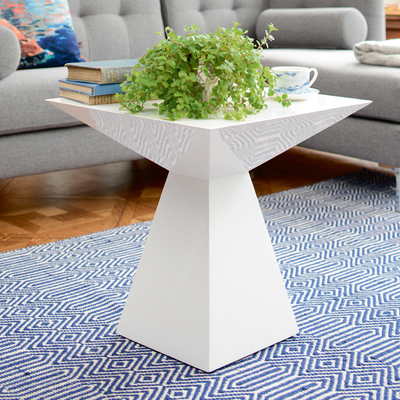 Angles Side Table White