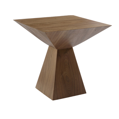 Angles side table walnut