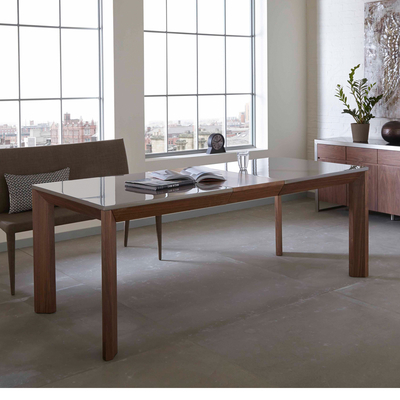 Panel extending dining table