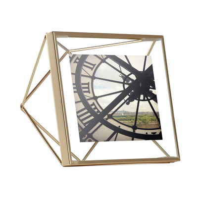 Prism picture frame small brass
