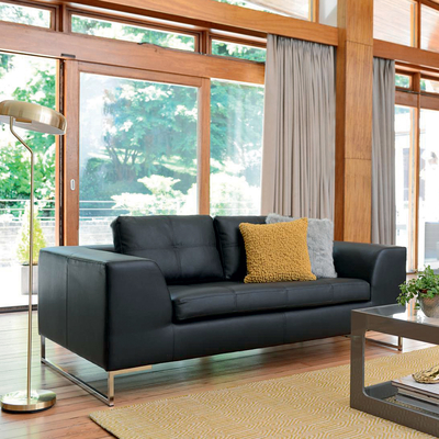 Vienna two seater sofa black