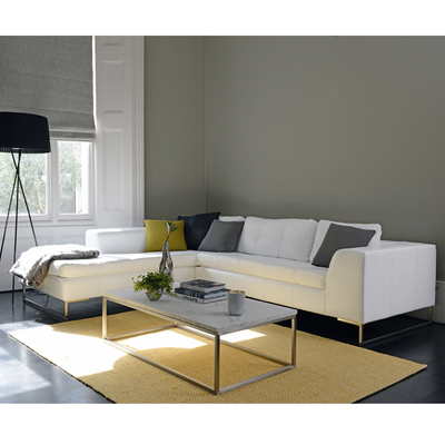 Vienna left hand corner sofa white