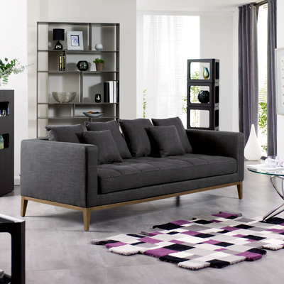Limoges three seater sofa charcoal