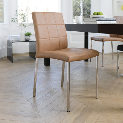 jenkins faux leather dining chair tan dwell