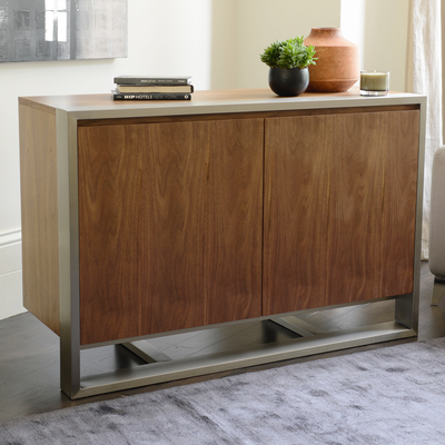 Nox two door compact sideboard walnut