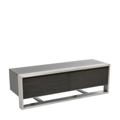 Nox two doors TV unit chocolate oak