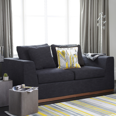 Seville sofa bed two seater charcoal