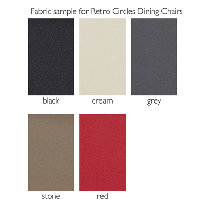 Fabric sample for Retro Circles Dining Chairs