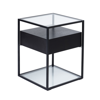 Drift side table darkwood