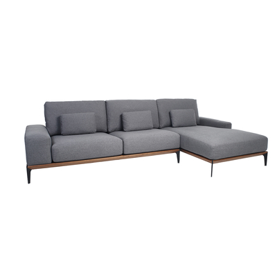 Malmo right hand sofa grey