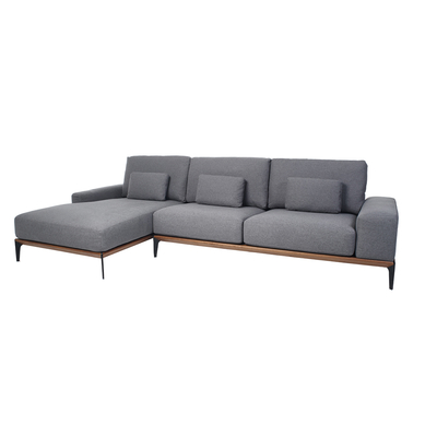 Malmo left hand sofa grey
