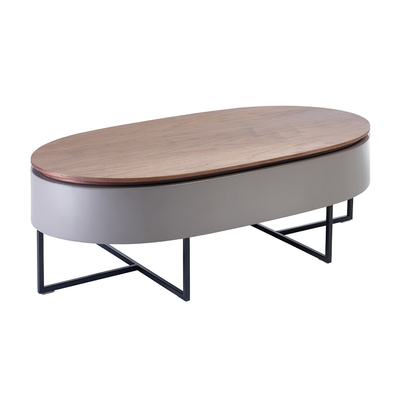 Pod lift up coffee table walnut