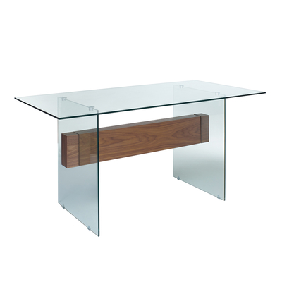 Treble glass dining table