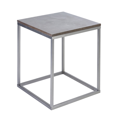 Marble side table grey