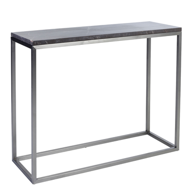 Marble console table grey