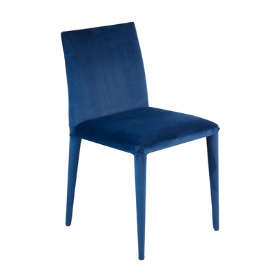 Antonio dining chair blue velvet
