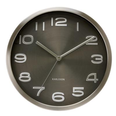 Shimmer wall clock black