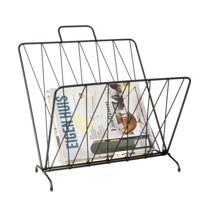 Foldable magazine rack matt black