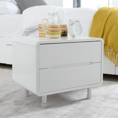 Notch bedside table white