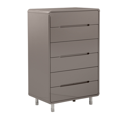 Notch tall chest of drawers stone