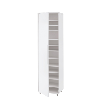 Notch tall shoe storage cupboard white