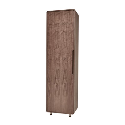 Notch tall shoe storage cupboard walnut