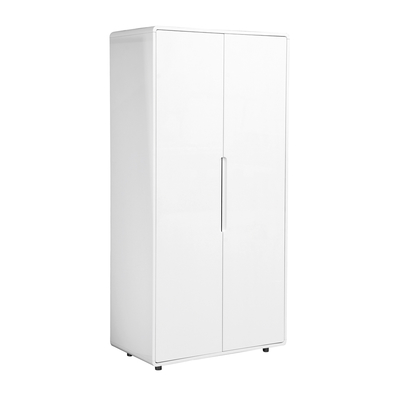 Notch wardrobe two door white