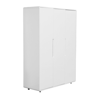 Notch wardrobe three door white
