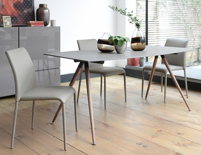 Point dining table stone scratch resistant