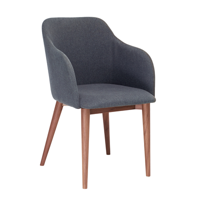 Dip dining chair grey fabric