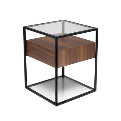 Drift side table walnut