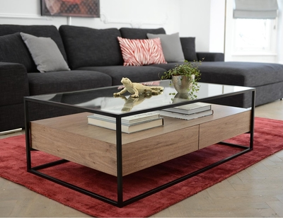 Drift coffee table walnut