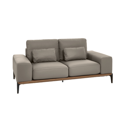 Malmo leather two sofa light grey