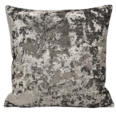 Crush square cushion grey