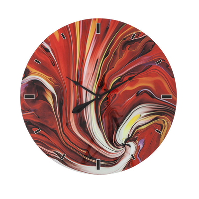 Flame spiral wall clock extra large