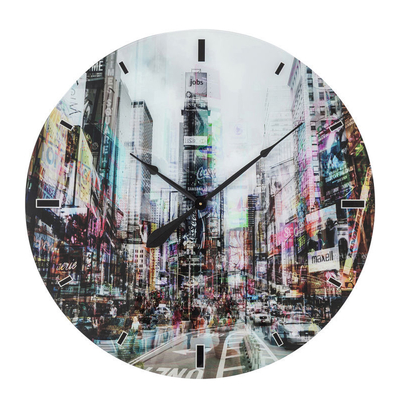 New York City Times Square glass wall clock extra large