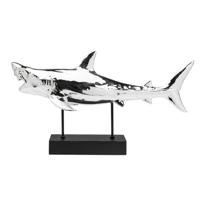 Shark sculpture chrome