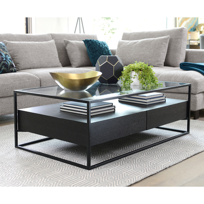 Drift coffee table darkwood