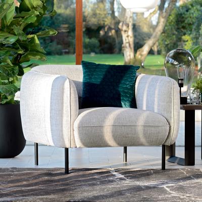 Valletta armchair light grey