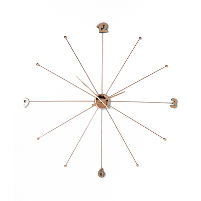 Spokes wall clock rose gold extra large