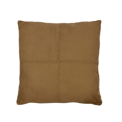 Bonded faux suede cushion brown